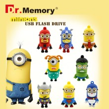 Pen Drive Minions USB Flash Drive Super Man Flash Drive Dr.memory 4gb 8gb 16gb 32gb Flash Memory Stick spider super man u disco(China)