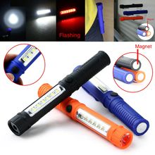 COB LED Mini Pen Multifunction Portable Work Light Clip Flashlight Torch Lamp With Magnetic USE AAA batteries