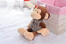 stuffed lovely monkey animal toy cute happy monkey toy gentle monkey doll birthday gift about 30cm