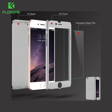 KISSCASE Armor For iPhone 6 6s 6 Plus 6S Plus 360 Degree Complete Protect Case Clear Glass Film Defend Case For iPhone 6S Plus