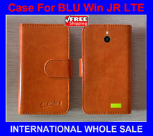 BLU Win JR LTE Case High Quality Factory Price Flip Leather Original Exclusive Case for BLU Win JR LTE Case tracking number(China)
