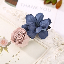 5 piece/lot Fresh Double Colors Flowers Design Ornaments Hairgrips Jewelry for Women Girls Hair Clips Headbands Accessories