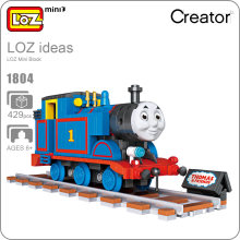 LOZ Mini Blocks Anime Train Track Brick Building Blocks Friends Plastic Assembly Toys Children Intellectual Toys DIY 1804