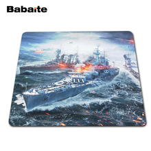Direct Selling Large Gaming Mouse Pad Painting Black Rubber Mousemat Non-slip Optical Speed World of Warships Mice Play Mats(China)