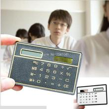 Slim Credit Card Cheap Solar Power Pocket Calculator Novelty Small Travel Compact wholesale