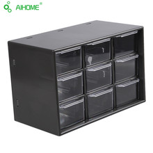 1PC Jewelry Storage Box Cabinets Lattice Portable Amall Drawer (White & Black Random)Desktop Office Supplies
