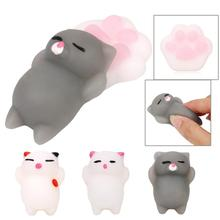 A Set Cheap Cartoon Cat Pillow Mochi Squeeze Squishy Healing Antistress Novelty Funny Gadgets Anti Stress Interesting Toys Gift(China)