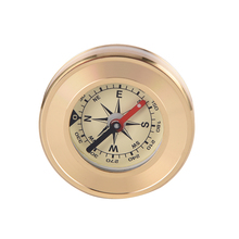 Copper Shell Mini Camping Marching Lensatic Compass Magnifier Gold Wild Survival Navigation Noctilucent(China)