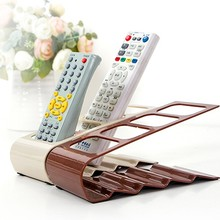 1Pc Useful TV/DVD Step Remote Control Storage Mobile Phone Holder Stand Organiser 4 Frame Home Organization