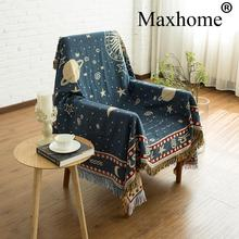 Retro Double-sided Carpet Soft Sofa Blankets Throws Rugs Sofa Cover Table Cover Knitted Blanket Woven 140*180cm(China)