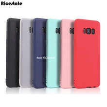 Ricestate Ultra Thin Matte Solid Color Silicone Soft Phone Cover For Samsung Galaxy S7 S8 Plus J2 J3 J5 J7 Prime C5 C7 C9 Pro