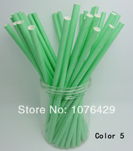 50 Pcs Paper Straws Solid Color Drinking Straws For Wedding Party Birthday Decoration Color 5