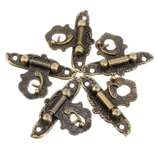 MTGATHER 10pcs/set Decorate Brass Decorative Jewelry Gift Wooden Box Hasp Latch Hooook With Screw Best Price(China)