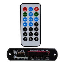 DC 12V Car Auto Digital LED USB AUX Bluetooth MP3 Music Decode Board Radio Audio HiFi Amplifier Remote(China)