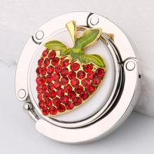 Strawberry Folding Bag Handbag Purse Table Hook Hanger Support Holder Gift
