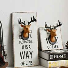 Free Shipping! Vintage Deer Shape Wall Decor Board Wall Resin Hanger Coat Hook Creative Home Decorative hooks HOT 46
