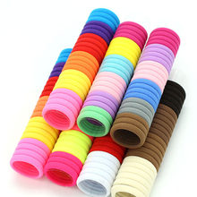 3cm 50pcs/lot Hair Accessories kids Rubber bands Scrunchy Elastic Hair Bands Girls Headband decorations ties Gum for hair(China)
