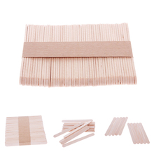 50Pcs Ice Cream Stick New Wooden Popsicle Stick Kids Hand Crafts Art Ice Cream Lolly Cake DIY Making Funny