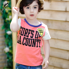High Quality Childrens T shirt For Boys Novelty Tops 2017 Summer Cotton Short Sleeves Kids Clothes 3T/4T/5T/6T/7T XDD-X8821
