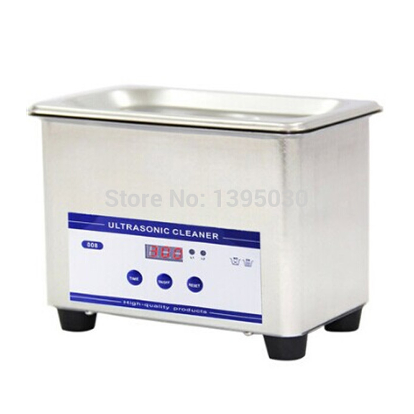 1pc 110V/220V 0.8L digital small ultrasonic cleaner bath JP-008<br>