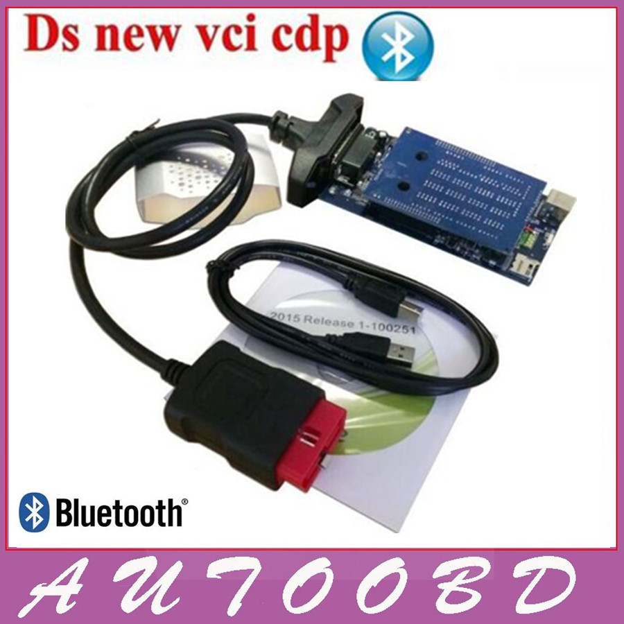 DHL Freeship+5PCS Quality A++New Vci CDP Pro Bluetooth For Car/Truck/Generic 3 in1 Better than MUltidiag Auto scan tool in stock<br>