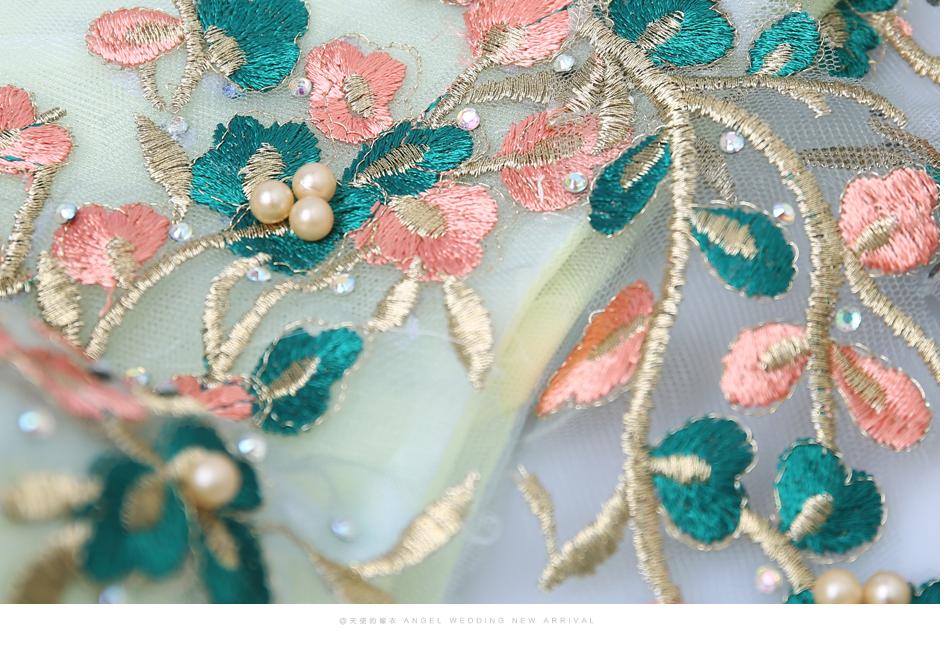 Angel Wedding Dress Marriage Bride Bridal Gown Vestido De Noiva 2017 Green, embroidery, the wizard of Oz 2217 19