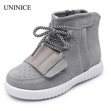 2017 spring autumn winter brand boys girls high top sneakers boys shoes boots children leather shoes suede baby shoes sneakers