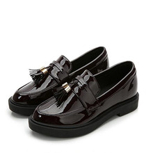 2017 new Black, wine red tassel flat shoes female Bullock Oxford Shoes Flats Women Shoes zapatos mujer damski boty