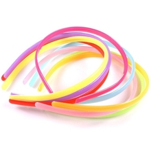 7pcs/LOT Mix-Candy Colors Hair bands Girl's Flat Headband Hairband Plastic Craft Plastic Ornaments Hairpins FREE SHIPPING