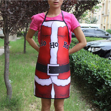 10 Pcs / Lot Novelty Christmas Santa Claus Personality Kitchen Cooking Party Dress Fun Lovers Apron Funny Gift For Lovers Natal