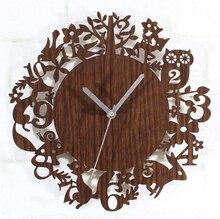 wall clock safe modern design digital vintage wood