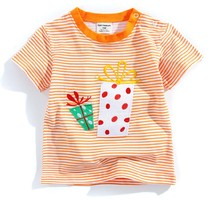 2017brand Retail 18M-6T kids baby girl clothing childrens clothes children t shirts 100%cotton Girl Cartoon Tees Baby(China)