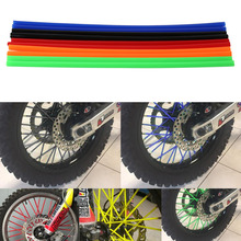 72pcs*23.7CM Multicolor Universal For KTM for HONDA for KAWASAKI Motorcycle Bike Off Road Wheel Rim Spoke Shrouds Skins Covers
