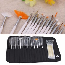 20pcs Nail Art Gel Design Painting Dotting Pen Brushes Bundle Tool Kit with Case
