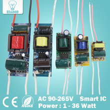1-36W LED Driver Input AC90-265V Power Supply Built-in Constant Current 300mA Lighting Transformers for DIY LED Lamps(China)