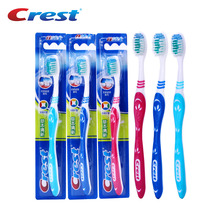 Crest 3pc Double Ultra Soft Herbs Toothbrush Nano Deep Clean Personal Care Brush Teeth Travel Eco Slim Toothbrush Manufacturer(China)