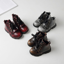 2016 Fashion boys leather shoes vintage boys boots winter shoes for boys winter boots kids sneakers toddler boys shoes
