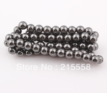 Hot sale 10mm Magnetic Hematite Round Beads Magnetism Magnet Hematite Balls Fit Shamballa Bracelet Necklace ZBE08