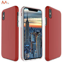 for iPhone X Case Red Luxury Thin Cover For iPhone 8/8 Plus TPU Back Cover For iPhone 10/7 /6/6s Plus Phone Case Slim Shell(China)