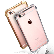 Transparent ShockProof Phone Cases For iphone 6 6S 7 5S SE Case Clear Soft TPU Cover For iphone 7 Plus 6 6S Plus Rubber Covers
