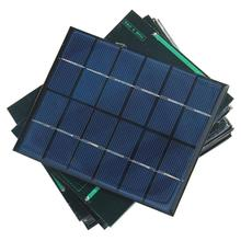 HOT Sale 2W 6V Epoxy Plate Solar Cell Polycrystalline Solar Panel Solar Module DIY Solar Charger 136*110MM Free Shipping