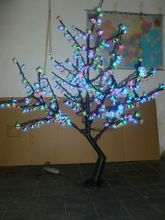 Free ship LED Christmas Light Cherry Tree 480pcs LEDs 5FT Height RGB Changing Color IP65(China)