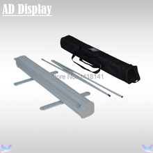 80*200cm 10PCS Economical Aluminum Retractable Roll Up Display Banner Stand,Trade Show Portable Pull Up Display(Only Stand)(China)