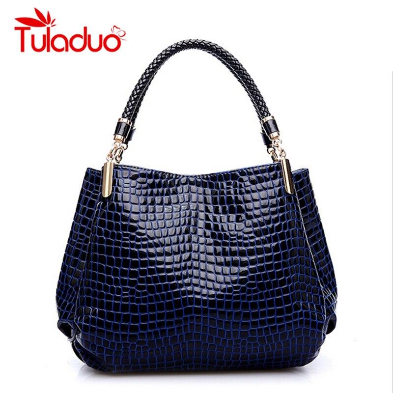 Bolsas Femininas Hot Sale Brand Women Single Shoulder High Grade PU Leather Crocodile Pattern Bags Bolsas Casual Tote Handbags<br><br>Aliexpress