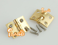 Dollhouse Miniature Furniture Brass Hardware Square Hinges 10pcs OA0066