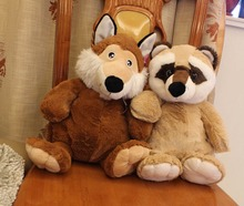 Plush toys wholesale new yellow raccoon fox doll children Stuffed toy birthday Christmas gift