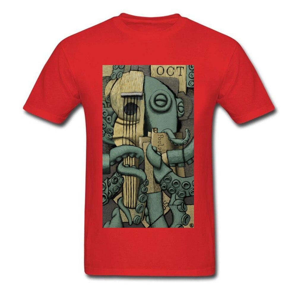 Georges Braquetopus Tops T Shirt Retro O-Neck Print Short Sleeve Pure Cotton Men's T Shirt Printed On Clothing Shirt Georges Braquetopus red