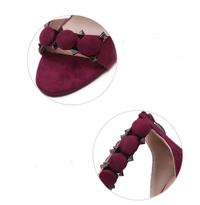 Women Pumps 2017 New Hot Suede High Heels Wedding Shoes Woman Ladies Fashion Thin Heel Zapatos Mujer Plus Size Sandals