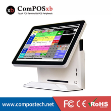 Cheap Windows Pos 15 inch Truth Flat Touch Screen Billing Machine All in One POS  Restaurant Cash Register