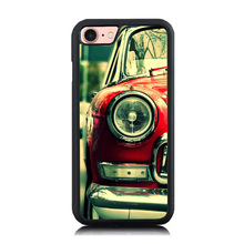 Vintage Old Car Art Printing Soft Silicone Cell Phone Case For iPhone 5 5S SE Hard Plastic Back Cover Skin for iPhone 7 7Plus 6(China)